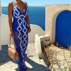 Santorini Blue Jumpsuit